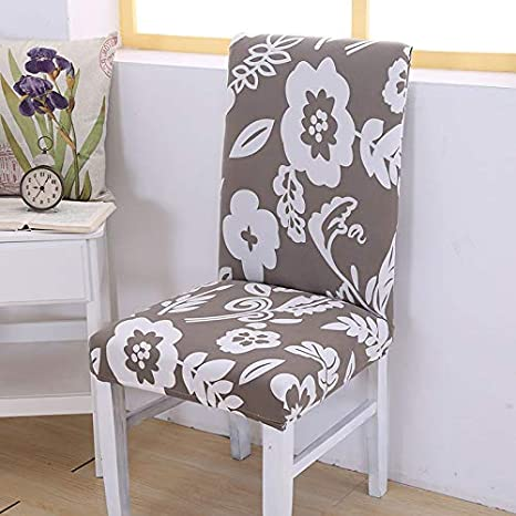 Amazon.com: 1/2/4/6 Pieces Floral Printing Dining Chair ...