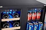 Kalamera 24'' Beverage and Wine Cooler Dual Zone