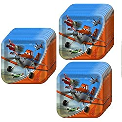 Disney Planes Dusty Crophopper Square Dinner Party Plates Pack (24 pack)