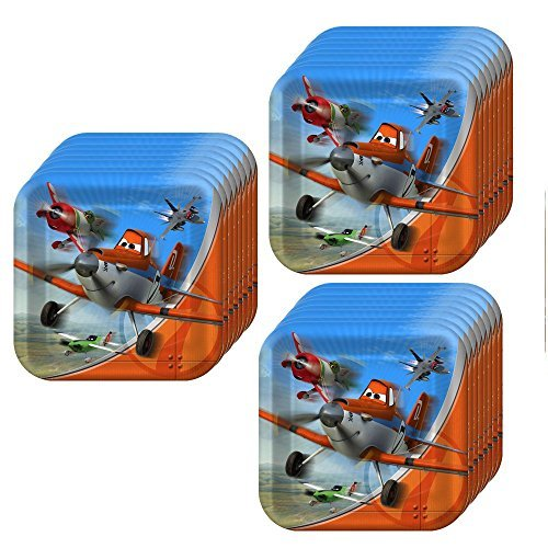 Disney Planes Dusty Crophopper Square Dinner Party Plates Pack (24 pack) -