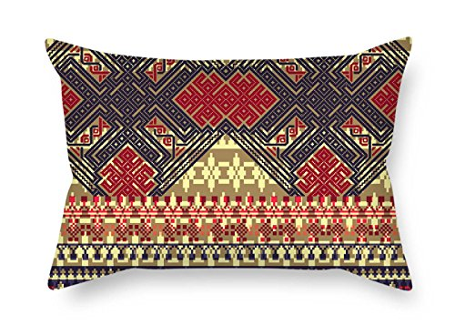 Needlepoint Brown Paisley (The Bohemian Cushion Cases Of 18 X 26 Inches / 45 By 65 Cm Decoration Gift For Couch Lover Son Deck Chair Lounge Home Office (twice Sides))