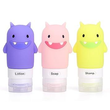 4bc60a417f34 Amazon.com : Portable Soft Silicone Travel bottles Set 3 Leak-Proof ...