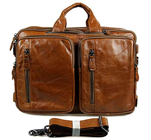 Carriemeow Mens Travel Bags Portable Large Capacity Bags Casual Canvas Shoulder Bags Color : Brown