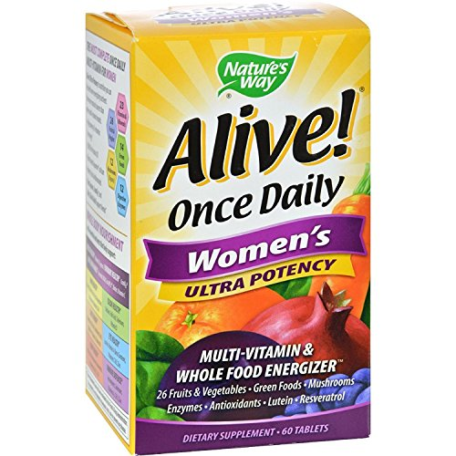 2Pack Nature s Way Alive Once Daily Women s Multi-Vitamin Ultra Potency – 60 Tablets