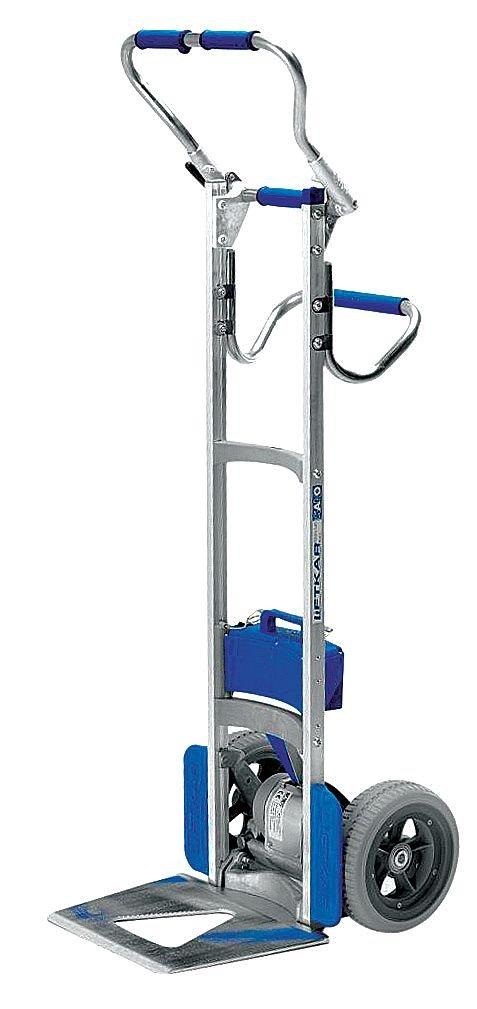 Wesco 274163 Power Liftkar SAL Stair Climbing Fold-L Frame Hand Truck, Microcellular Tire, 375-lb. Capacity, 19'' Width x 64-1/2'' Height