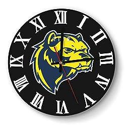 LMQI Wall Clock Simple Michigan-Wolverines-Football-Logo-Yellow- Style Silent Digital Clock for Home