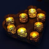 CozyT 100 PACK Black Tea Light Votive Wraps Paper Candle Holder Laser Cut For Decorative Wedding Party