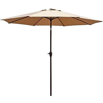 Amazon Com Le Papillon 9 Ft Outdoor Patio Umbrella Aluminum Table