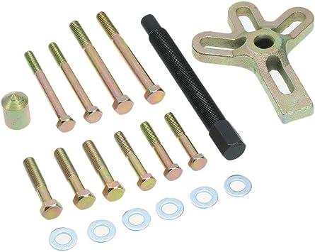 13pcs Harmonic Balance Car Steering Wheel Puller Kit Pulley Remover Set