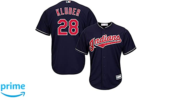 23611b1bfd5 Amazon.com : Outerstuff Corey Kluber #28 Cleveland Indians Youth Alternate  Jersey Navy : Sports & Outdoors
