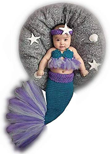 Traje de punto para bebé recién nacido, diseño de sirena ...