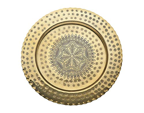 Godinger Round Charger Plate Brass -12.5 inch