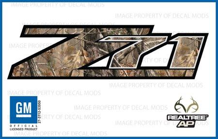 gmc sierra realtree ap z71 decals stickers ap 2007 2013 bed side 1500 2500 hd set of 2. Black Bedroom Furniture Sets. Home Design Ideas