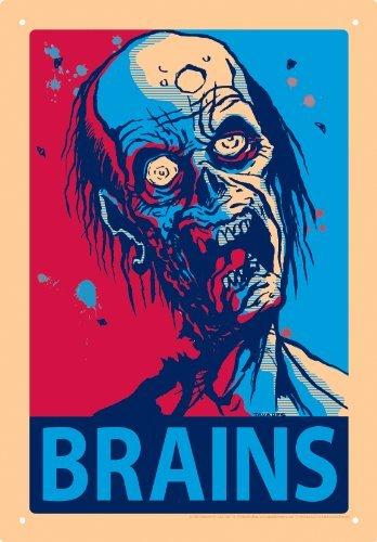 Aquarius Zombie Brains Tin Sign