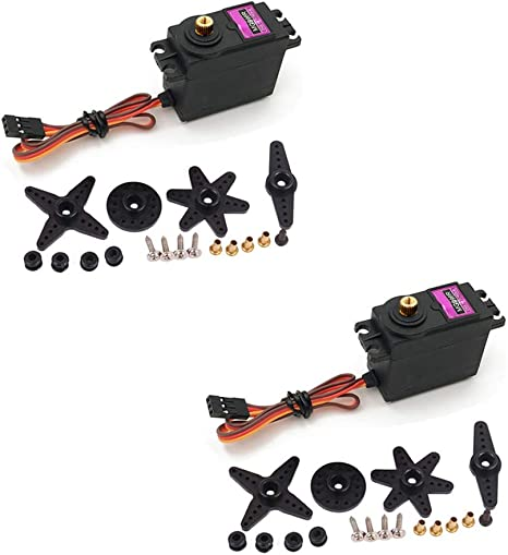2Pcs MG996R MG996 360° Gear Servo Motor Big Torque For Helicopter Robot Arduino