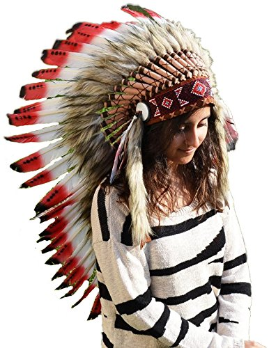 Mediu (Halloween Indian Headdress)