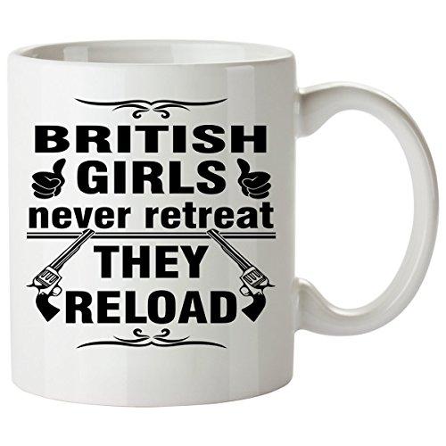 BRITISH Coffee Mug 11 Oz - Good Gifts for Girls - Unique Coffee Cup - Decor Decal Souvenirs Memorabilia