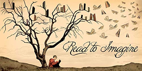 Read to Imagine Literacy Poster, For Classroom, Office, Home or Library. Available Fine Art Paper or Laminated.
