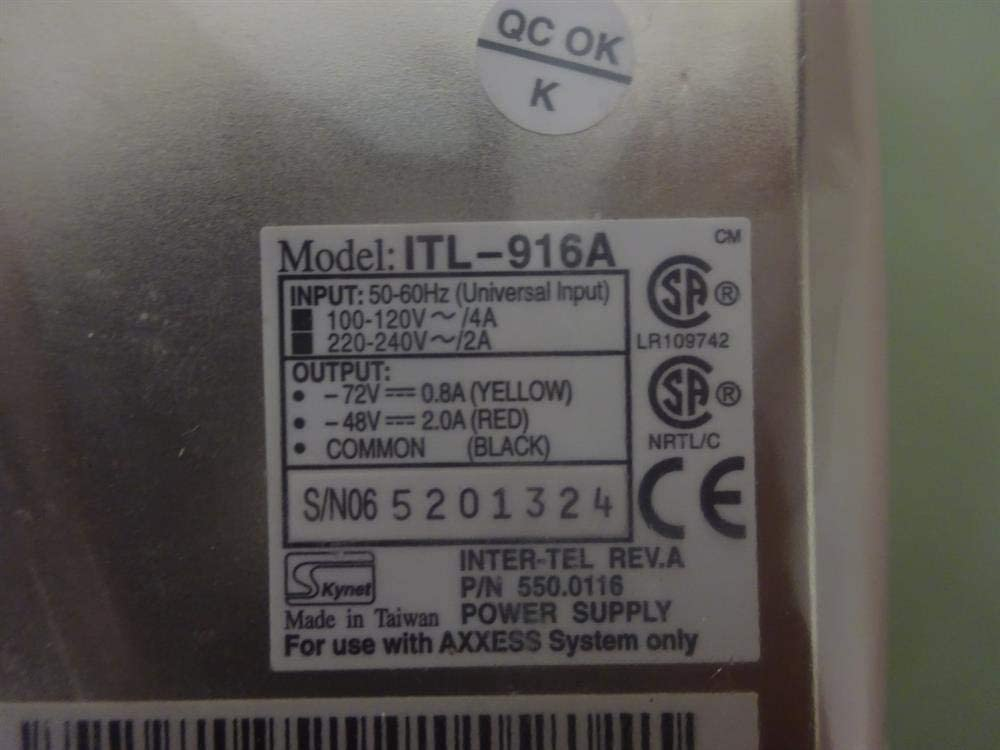 Inter-tel New 550.0116 Quad Power Supply