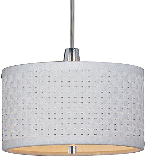 ET2 E95050-100SN Elements 1-Light RapidJack Pendant RapidJack Pendant, Satin Nickel Finish, Glass, 12V GY6.35 T4 Xenon Bulb, 2.9W Max., Damp Safety Rated, Standard Dimmable, Glass Shade Material, 4000 Rated Lumens ()