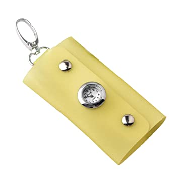 Aubess Fashion - Llavero Rectangular con Reloj, Amarillo ...