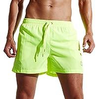 Pantalones cortos para hombre nadar playa troncos Quick Dry Pantalones Cortos con bolsillos para el surf Running Natación Bañador