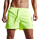 Mens Shorts Swim Trunks Quick Dry Beach Shorts with Pockets for Surfing Running Swimming Watershort