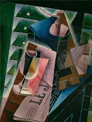 (Oil Painting 'Juan Gris,Coffee Grinder And Glass,1915' Printing On Perfect Effect Canvas , 18x24 Inch / 46x61 Cm ,the Best Nursery Gallery Art And Home Decor And Gifts Is This High Resolution Art Decorative Canvas Prints)