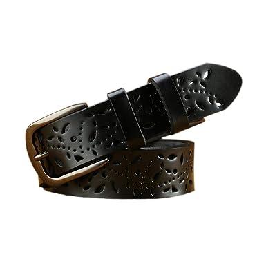 74ee6d40fe57 Ceinture Réglable Boucle en Métal Sangle en simili-Cuir Ajouré pour Jeans  Robe Femme (1)  Amazon.fr  Vêtements et accessoires
