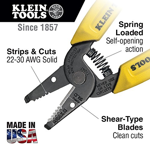 Wire Stripper/Cutter, 22-30 AWG Solid Wire Klein Tools 11047
