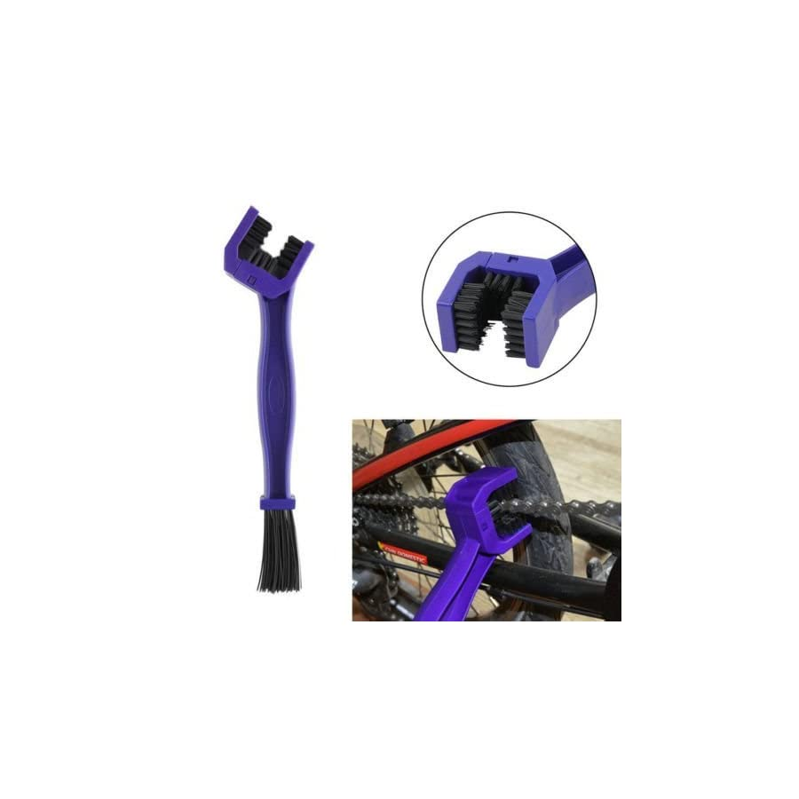 FIVE FLOWER Cycling Motorcycle Bicycle Chain Crankset Brush Cleaner Cleaning Tool (Blue)