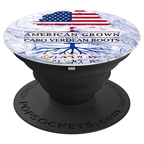 (American Grown with Cape Verdean Roots - Cape Verde PopSockets Grip and Stand for Phones and Tablets)
