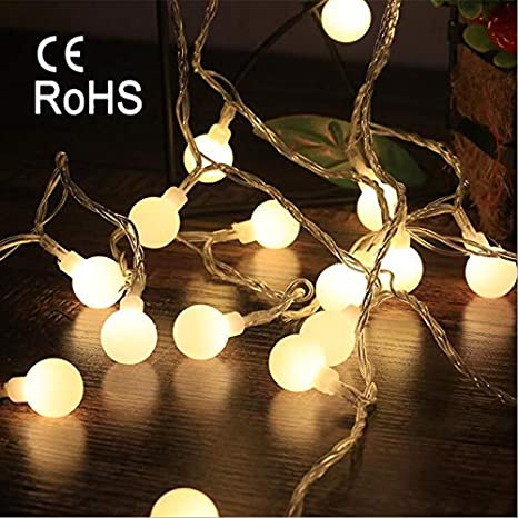 6M(20ft) String Lights, 40 LED Globe Lights Indoor & Outdoor Waterproof  Fairy Lights for Party, Garden, Patio, Valentine's Day Decoration, Warm  White