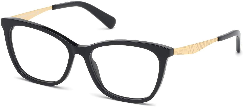 Zebra Print Pink Gold W Eyeglasses Roberto Cavalli RC 5095 001 Shiny Black