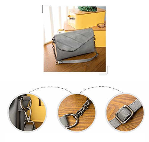 Damen Damen Mädchen Rucksack 2017 Herbst und Winter Mode Tasche Leder Damen Handtasche Damen Paket Köper Packs (24 * 21cm) (grau)