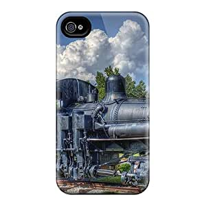 4/4s Scratch-proof Protection Case Cover For Iphone/ Hot Old Steam Engine Hdr Phone Case