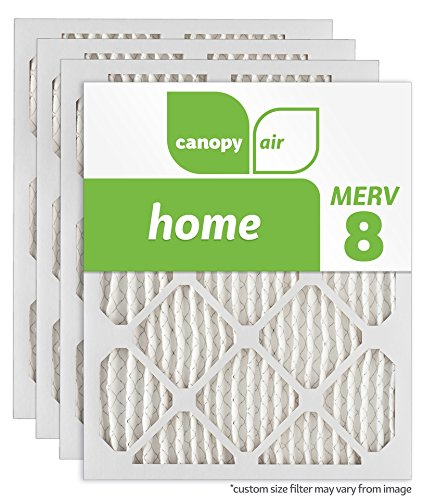 "Price comparison product image Canopy Air AP80S.0125F20H Custom Air Filter, MERV 8, 25.375"" Length, 20.5"" Width, 1"" Depth (Pack of 4)"