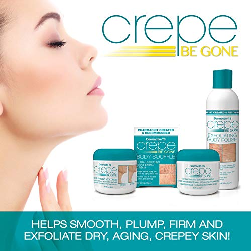 51LrfkZe6FL - Dermactin-TS Crepe Away Body Souffle 3 oz. - for Dry Aging & Crepey Skin, Smoothes Plumps & Firms Skin, Deeply Moisturizes Skin, Can Be Used On Neck, Chest, Arms & Legs