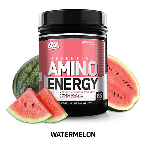 Optimum Nutrition Amino Energy with Green Tea and Green Coffee Extract, Flavor: Watermelon, 65 Servings, 20.64 Ounce (Pack of 1)