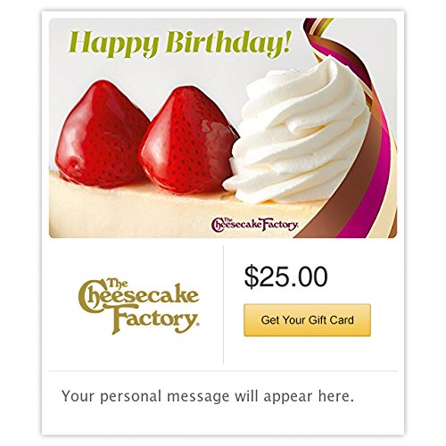 The Cheesecake Factory Birthday Strawberry Cheesecake Gift Cards - E-mail Delivery (Birthday Email)