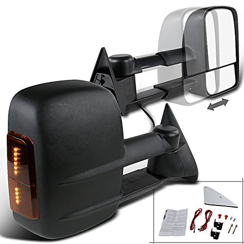 APA Chevrolet Gmc C K 1500 2500 3500 Truck 88 – 98 Tow Power Non Heated Mirror LED Signal Set