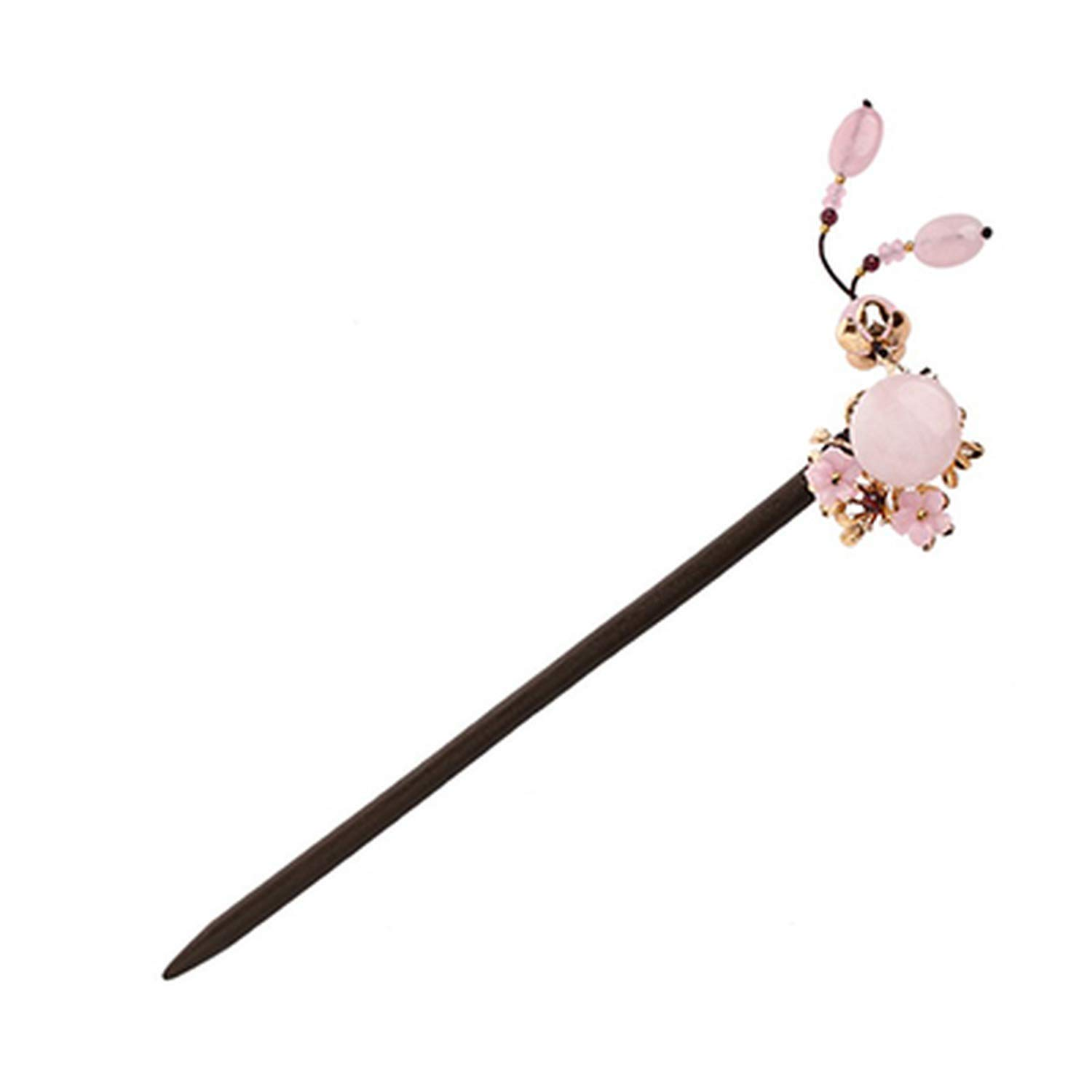 Hair Charm Pink Accessories woman Gift Hairpins 18cm Wood,A