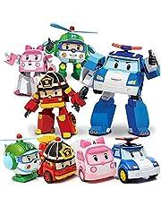 4 pcs Poli Car Toys Transformer Cars Toys Robot Transforming Robot Cars Toys Poli, Roi, Amber, Helly, Children's Day Gift Boys Girls Toy