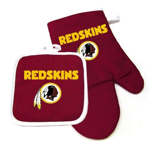 (NFL Team Logo Kitchen Home Outdoor Washington Redskins Oven Mitt and Pot Holder Size: ONE Model: 637-NFL-WA-RD-OV-MT-HL (Home & Kitchen))