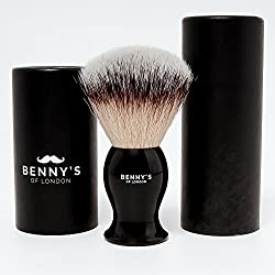 SHAVING BRUSH - SALE NOW ON - Benny's of London Luxury Shave Brush - Perfect for Home or Travel - Must Have Present for Mens Grooming Set by Benny's of London