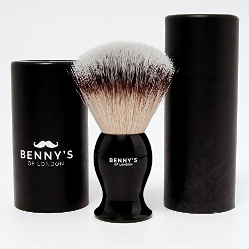 SHAVING BRUSH - SALE NOW ON - Benny's of London Luxury Shave Brush - Perfect for Home or Travel - Must Have Present for Mens Grooming Set by Benny's of London (Vo5 Spa)
