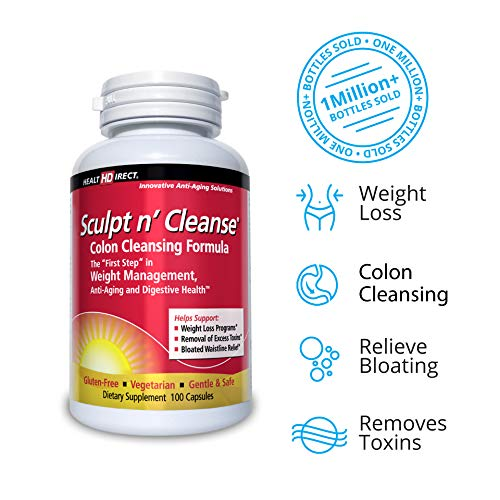 Sculpt n' Cleanse: Colon Cleanse, Detox, Weight Loss & Increased Energy Supplement | Vegan | Non GMO