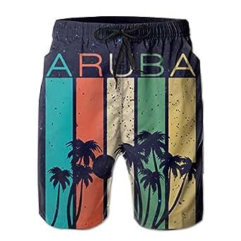 Aruba Souvenir Men's Swim Trunks Board Shorts Running