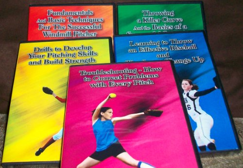 Ernie Parker's 5 DVD Set - Basics and the Drop, Curve and Screw, Rise and Change Up, Drills for Pitching and Strength, and Troubleshooting Pitching (Fastpitch Softball Pitching Dvd)