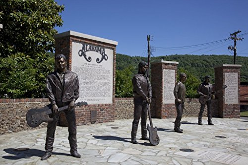 16 x 24 Art Canvas Wrapped Frame Giclee Print Bronze Statues Members Alabama a Grammy Award-Winning Country Music Southern Rock Band That originated Fort Payne Alabama 2010 Highsmith 80a